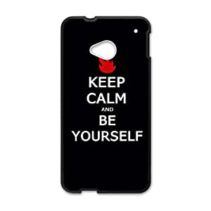 Custom Protective Hard Plastic Case for HTC One M7 - Keep calm diy case at CHXTT-C