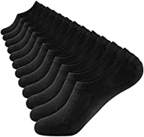 Closemate Mens & Women No Show Socks Low Cut Non Slip Cotton Invisible Casual Socks 3-6 Pairs