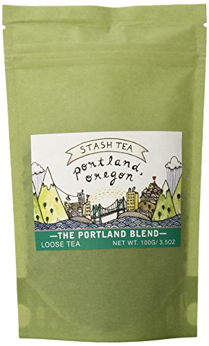 Stash Tea Portland Blend Loose Leaf Tea, 3.5 Ounce Pouch Loose Leaf Premium Black Tea for Use with Tea Infusers Tea Strainers or Teapots, Drink Hot or Iced, Sweetened or Plain ()