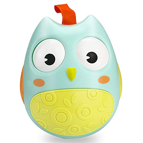 LET'S GO! Baby Infant Toys for 6-12 Months, DIMY Owl Tumbler Hanging Toys Best Gifts for Baby Toys Best Gifts for 1-3 Year Old Girls Boys Toddler Toys for Boys Girls Age 1-3 Light Green DMLY1