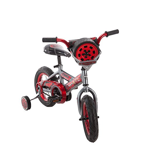 12 Inch Huffy Disney Pixar Cars Boys Kids for Boys with Sounds, Helmet and Cleaner Cloth by Huffy (Image #4)