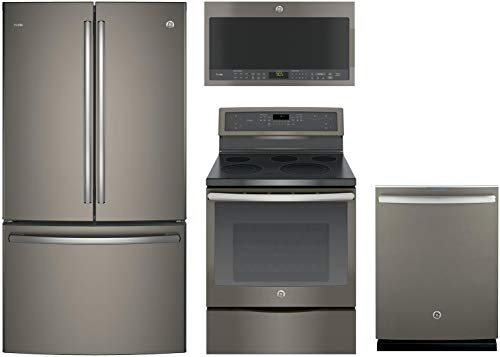 GE Profile 4-Piece Kitchen Package with PWE23KMKES 36