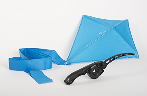 Black Castakite Kite Flying Handle and Reel That Eliminates The Frustrations of Conventional Winders and Spool - Free Blue Kite Included! AS SEEN ON TV!!! (Children Flying Kites)
