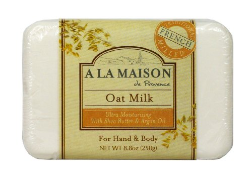 Soap Bar Oat Milk - A La Maison Solid Bar Soap, Oat Milk, 8.8 Ounce