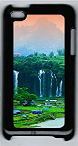 iPod 4 Cases & Covers - Waterfall Scenery Custom PC Soft Case Cover Protector for iPod 4 - Black