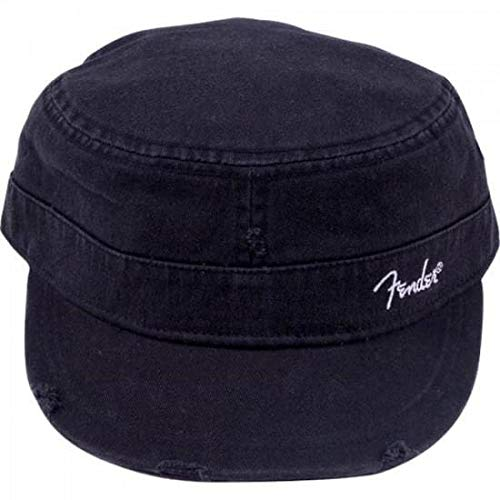 Fender Military Cap (hat) - Black - Large - Extra -