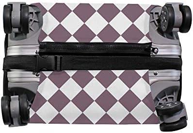 スーツケースカバー ひし形 伸縮素材 キャリーバッグ お荷物カバ 保護 傷や汚れから守る ジッパー 水洗える 旅行 出張 S/M/L/XLサイズ