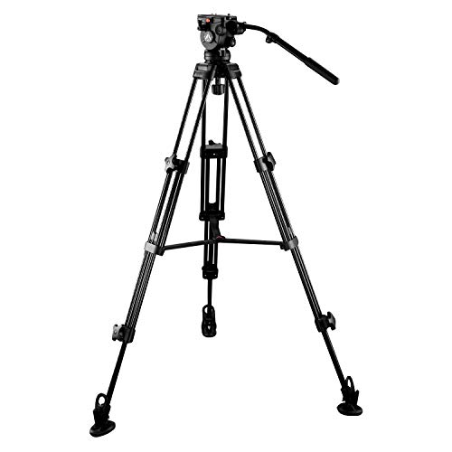 E Image EI 7060 AA 6ft Tripod Stand Kit with Fluid Head for DSLR Camera Payload 8Kg