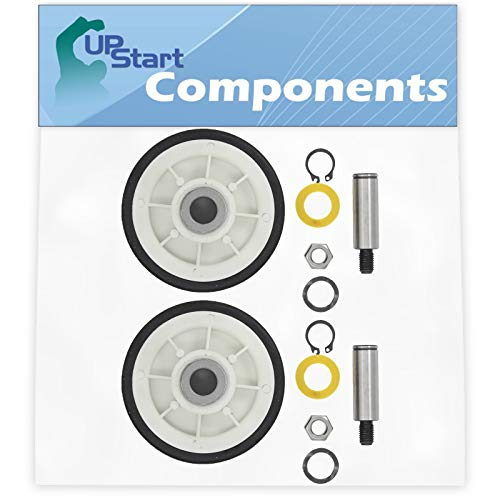 2-Pack 12001541 Drum Support Roller Kit Replacement for Maytag Dryers - Compatible with Part Number AP4008534, 303373, PS1570070, 400518, Y303373, 12001541VP, AH1570070, K35-248, W10116741, EA1570070 ()