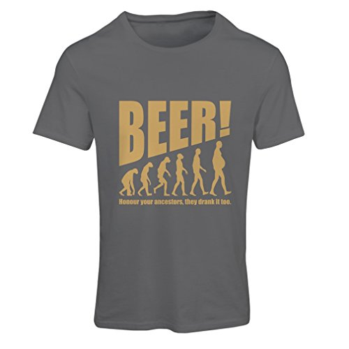 N4534F Frauen T-Shirt The Beervolution (Small Graphit Gold)