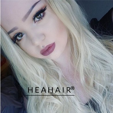 [Heahair Heat Friendly Long Soft Handtied Black Ombre Blonde Natural Looking Synthetic Lace Front] (Fancy Dress Hollywood Themed Costumes)