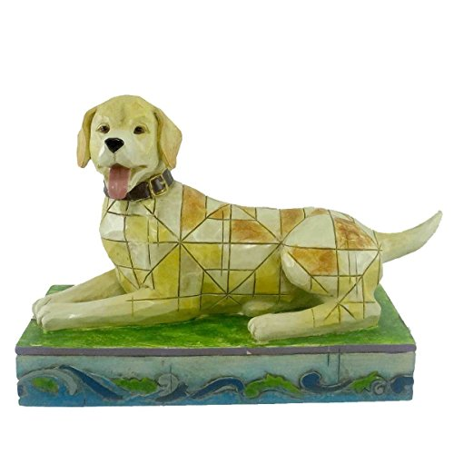 Enesco Jim Shore Heartwood Creek from Yellow Labrador Figurine 4.5 in