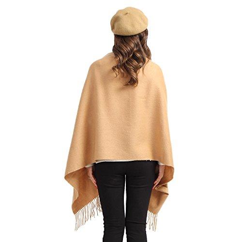 "Women Soft Cashmere Wool Wraps Shawls Stole Scarf - Large Size 78""x 28"" (Camel)"
