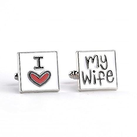 Xjoel Nueva llegada de la manera de las mancuernas de la letra I Love My Wife