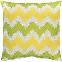 Bambury Outdoor Cushion (Outdoor Cushion), Chevron Lime/Yellow