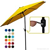 Big Sale!! AbcCanopy Commercial 9-Feet Patio Umbrella with Push Button Tilt and Crank, 8 Steel Ribs, Gold