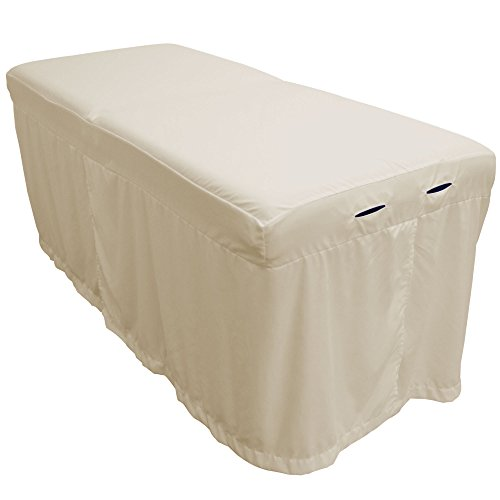 Lightweight Microfiber Massage Table Skirt by Body Linen - Natural