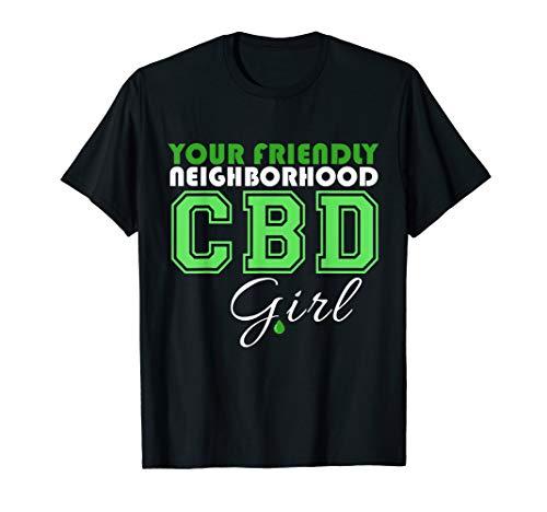 Your Friendly Neighborhood CBD Girl CBD Shirt CBD Cures  T-Shirt