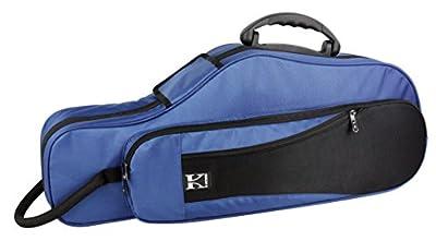 Kaces KBFB-AS2 Lightweight Hard-shell Alto Sax Case, Dark Blue