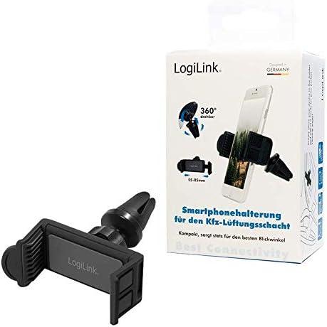Logilink Aa0113 Smartphone Halter Für Kfz Lüftungsschacht 8 89 13 97 Cm 3 5 5 5 Zoll Elektronik