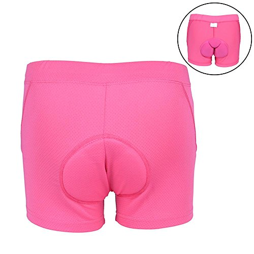 Aolvo 3D Gel Women Padded Cycling Underwear Shorts, Mother Day's Gifts Bike Shorts Plus - Breathable Quick Dry - Ride Bicycle Shorts Briefs for Specialized Dirt Bike, Mountain Bik - Pink