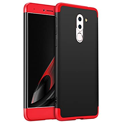 online store eeca8 a7697 Gkk Full Protection 360 Degree Back Cover Case For Honor 6X (Red & Black)