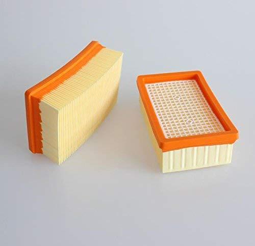 aspirateur /à eau//poussi/ère MV4 WD4 WD5 WD6 comme 2.863-005.0 WD 4-6 et MV 4-6 WD6 Lot de 2 filtres /à plis plats pour K/ärcher MV5 MV6 WD6