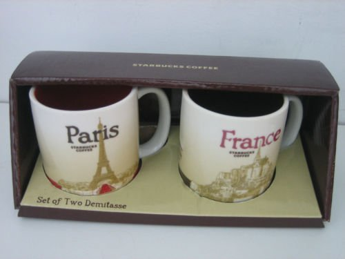 De Paris Mugs - Starbucks Paris France Global Icon Collection Mug Set of Two Demitasse