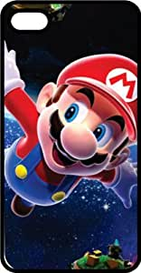 Spaceship Mario Black Rubber Case for Apple iPhone 5 or iPhone 5s