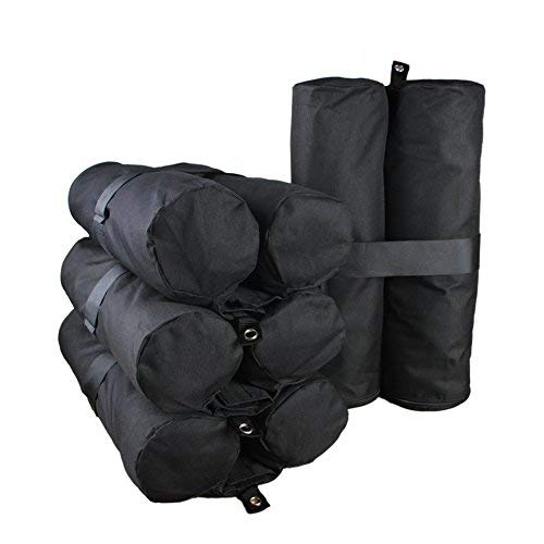 (Goutime Canopy Weight Bags 40 lb for Pop Up Canopy Tent Legs, Gazebo Sand Bag Weights Set of 4 Black)