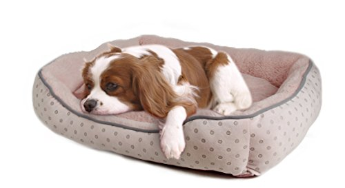"Anima DOB022-Pink Dog Bed, Pink, 14"" x 9"" x 4"""