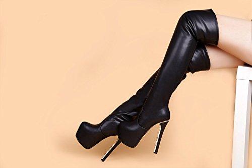 Mode, schuhe knie cm hohe stiefel 16 cm knie absätzen - 45491f