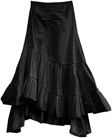 MIBKLPG Faldas para Mujer Falda De Volantes De Moda Casual Falda ...