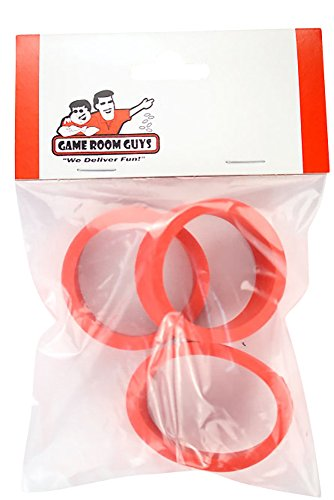 Game Room Guys Set of 3 Red Pinball Flipper Rubber - 1.5