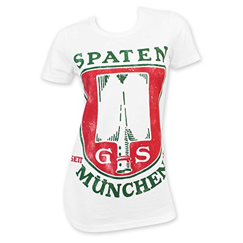 Spaten Munchen Women's Beer Logo T-Shirt X-Large White (Beer Spaten)
