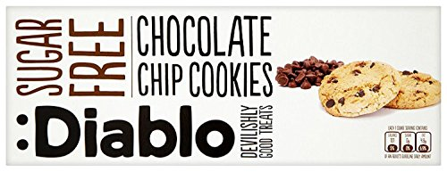 Diablo sugar free chocolate chip cookies 130 g pack of 4 amazon diablo sugar free chocolate chip cookies 130 g pack of 4 negle Images