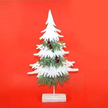 Weihnachtsdeko Watte.Weihnachtsbaum Beschneit Mit Watte Beeren Höhe 50 Cm Weihnachtsdeko