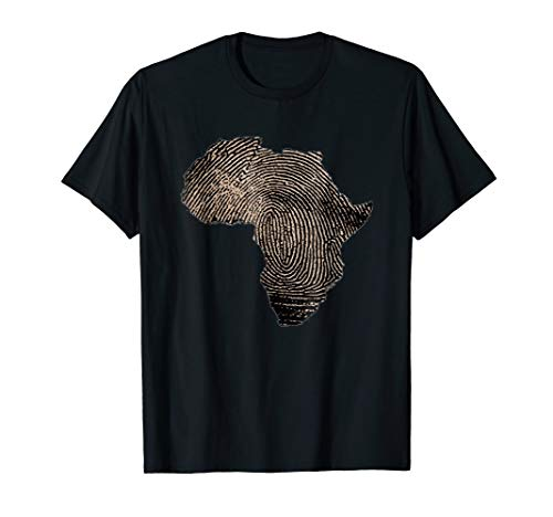 (Africa DNA T Shirt Flag Thumb Fingerprint Roots Proud Tee )