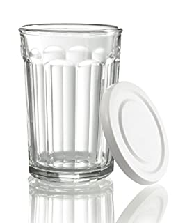 Arc International Luminarc Working Glass Storage Jar/Cooler with White Lid, 21-Ounce, Set of 4 (B00AILURUO) | Amazon Products