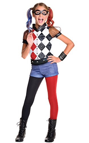 [Rubie's Costume Kids DC Superhero Girls Deluxe Harley Quinn Costume, Small] (Joker Costumes Kids)