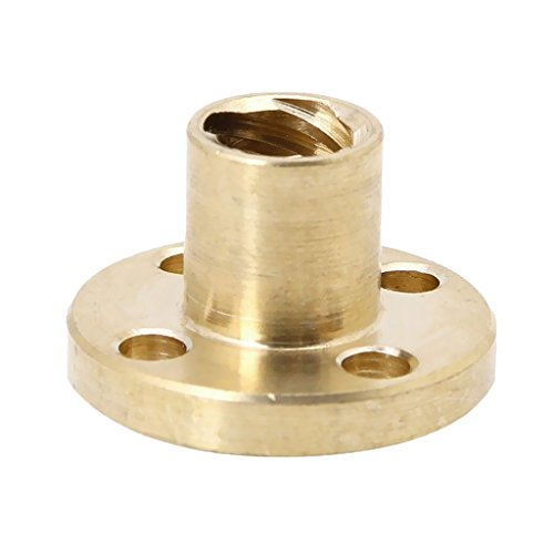 MonkeyJack T8 8mm Pitch Brass Nut for Acme Threaded Rod Lead Screws DIY 3D Printer Part