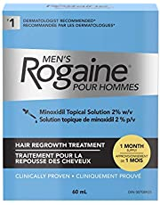 Rogaine Men's Rogaine 2% Minoxidil Topical Solution - Hair Loss & Thinning Treatment, 1 Month Supply , 60 ml (Pack of 1)