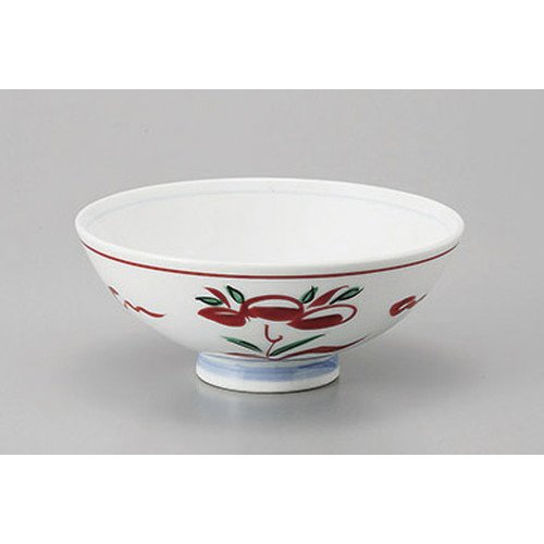 70e Body ([mkd-530-7-70e] Hair color red painting flower large tea body [14.8 x 6.5 cm] Reinforcement Ryokan Ryokan Japanese food machine restaurant business use)