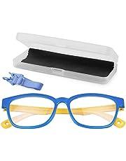 KinCam Kids Blue Light Blocking Glasses Anti Glare Lens Lightweight Frame Computer Eyeglasses