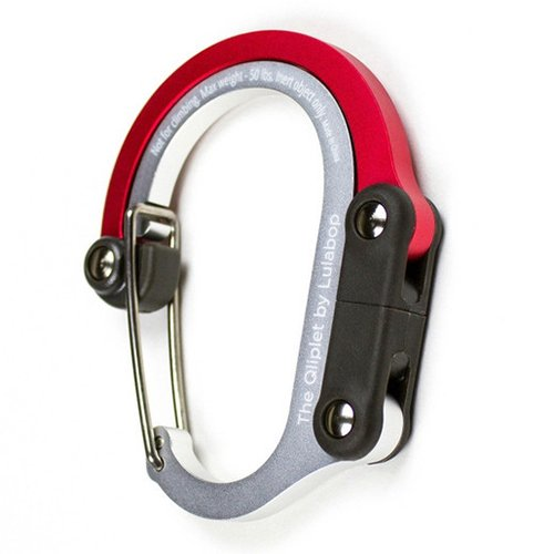 Lulabop Qliplet Modified Carabiner with Rotating Folding Hook (Hot Rod Red) by Lulabop
