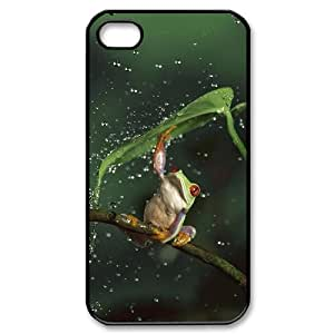 Frog Custom Cover Case for Iphone 4,4S,diy phone case ygtg531396 by icecream design