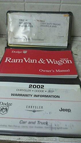 2002 Dodge Ram Van & Wagon Owners Manual (Wagon Manual Ram Owners Van)