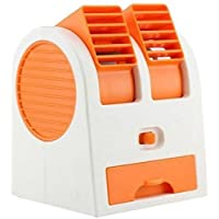 MLD® Dual Bladeless Small Air Conditioner Water Air Cooler Powered By Usb & Battery Use Of Car/Home/Office (Multicolor)
