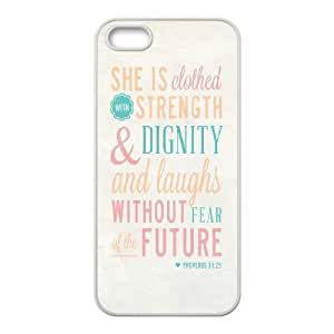 Custom Christian Quotes Iphone 5,5S Case, Christian Quotes Personalized Case for iPhone 5,iPhone 5s at Lzzcase