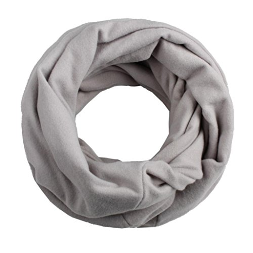 Digood Teen Baby Boys Girls Solid Color Keep Warm Windproof O-Ring Neck Scarf (H)